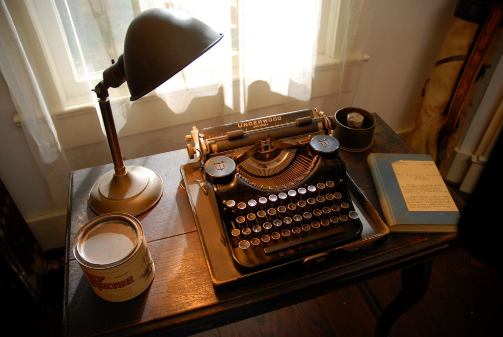 Oxford, MS: William Faulkner's Typewriter. Photo by Visit Mississippi