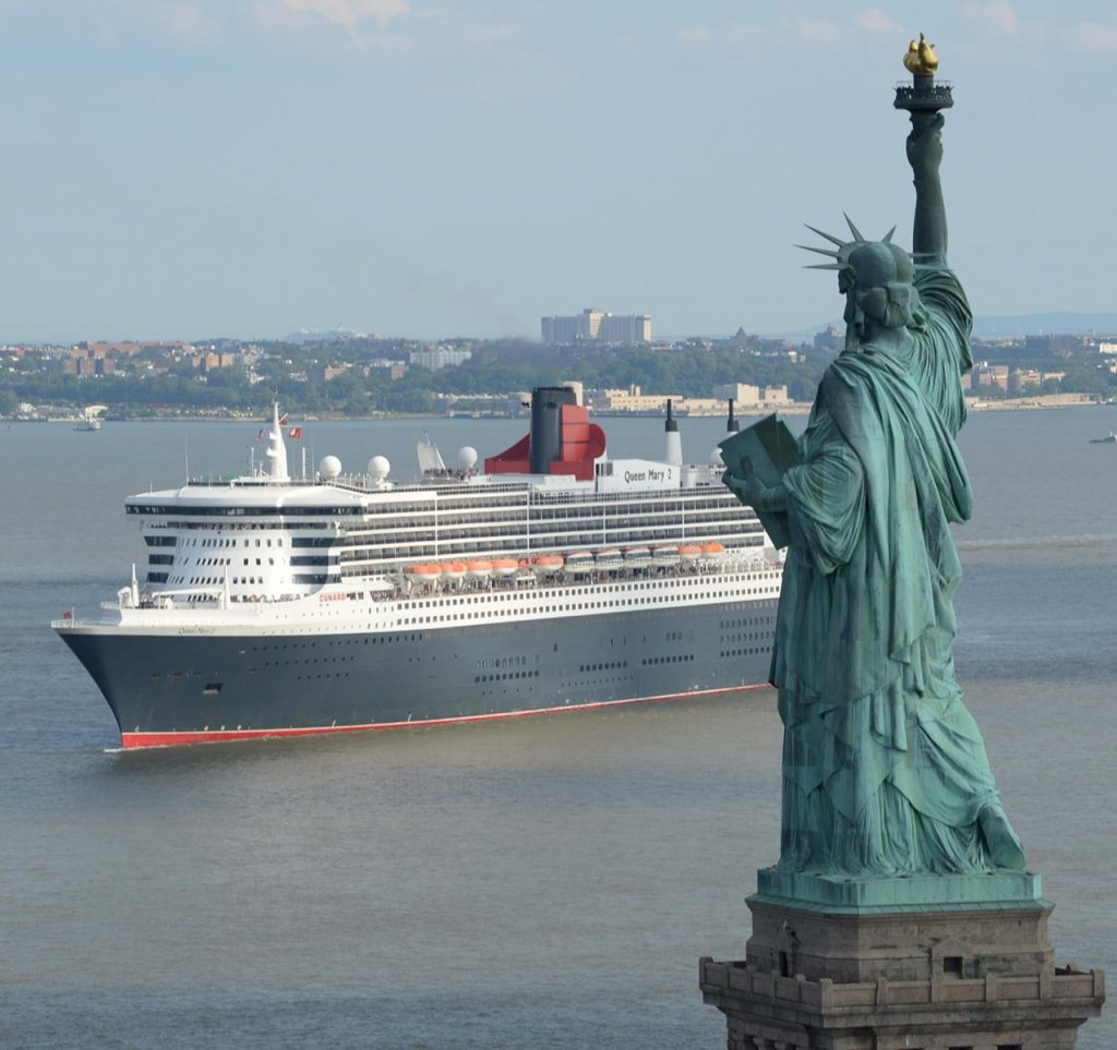 Queen Mary 2 Statue of Liberty Photo Credit Courtesy of Cunard