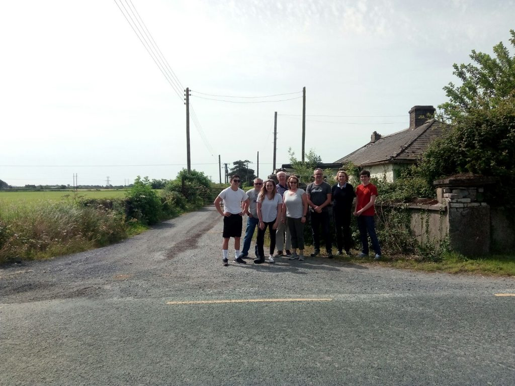 The MacDonald clan at the gates to their ancestors farm in Kildare Credit Vagabond Small-Group Tours of Ireland