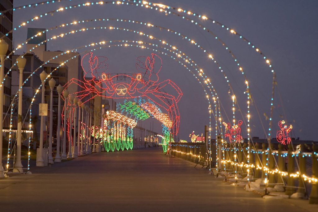 VA Beach Boardwalk Lights