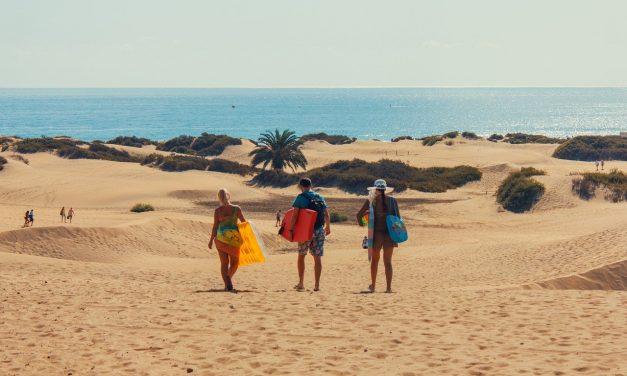 Explore La playa de Maspalomas en Gran Canaria