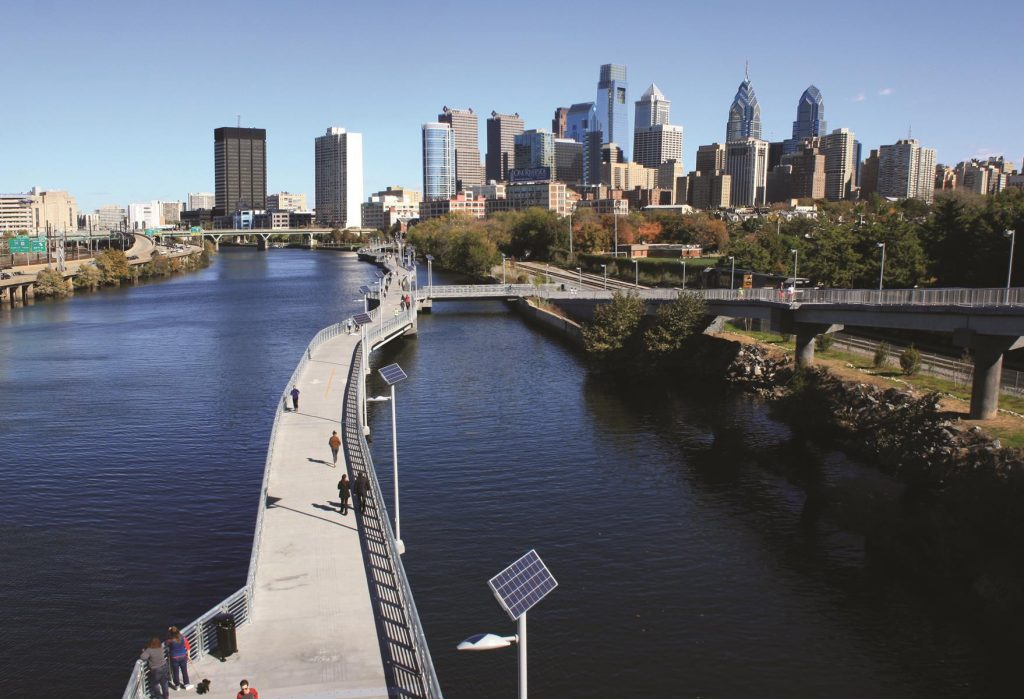 Schuylkill Banks Bike Trail photo by Montgomery County Planning Commission