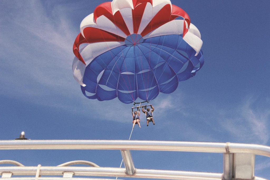 outdoor adventure with parasailing