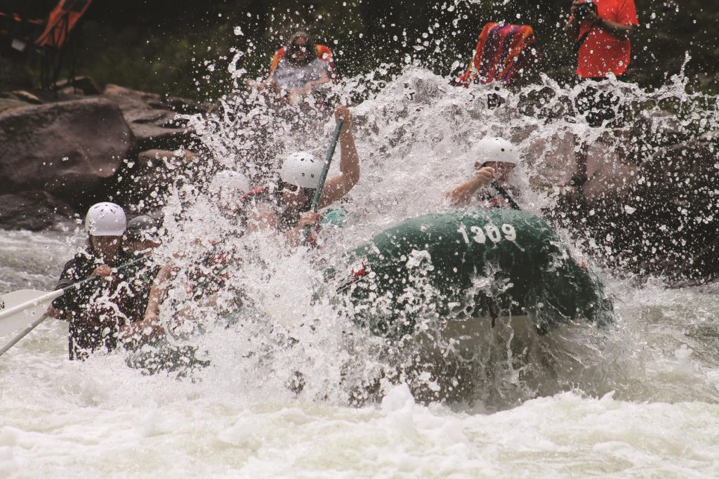 outdoor adventure with white water rafting