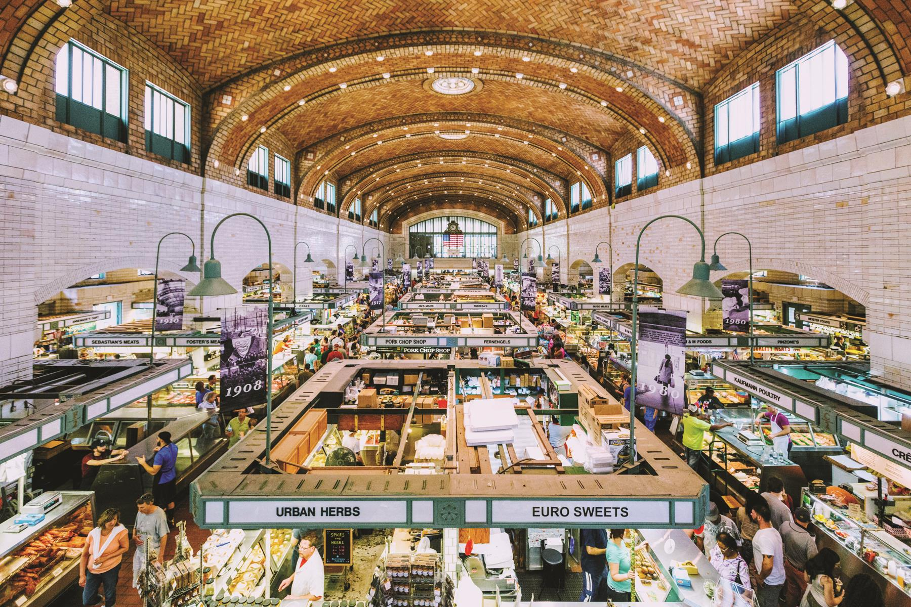 There's plenty to eat at Cleveland's West Side Market.