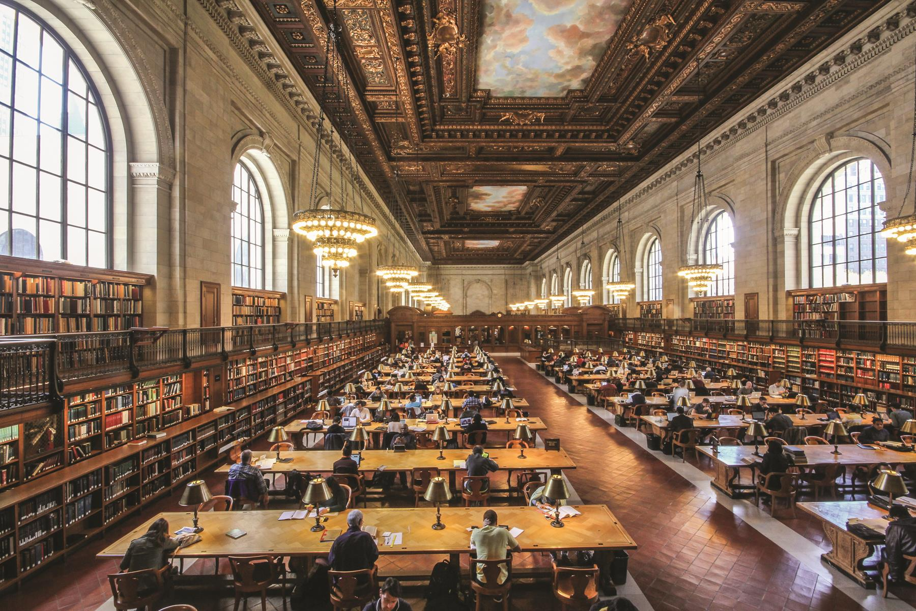 The New York Public Library's magnificent Rose Main Reading Room