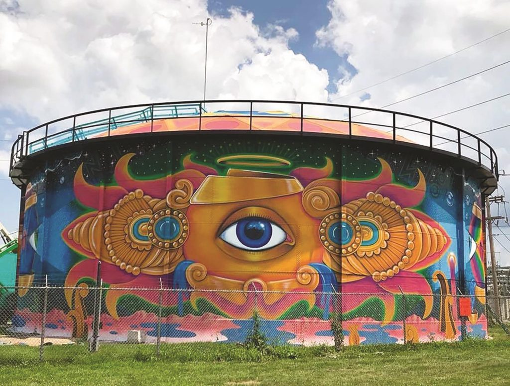 JEFFERSONVILLE WATER TANK MURAL SoIN Tourism