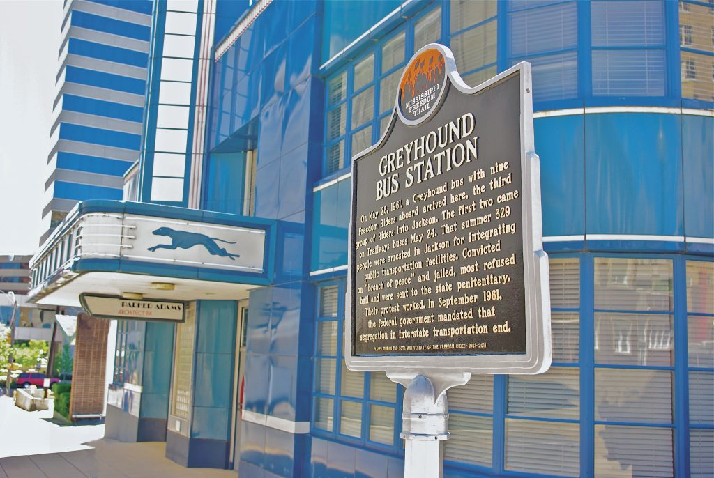 Freedom Trail Marker Greyhound Bus Station
