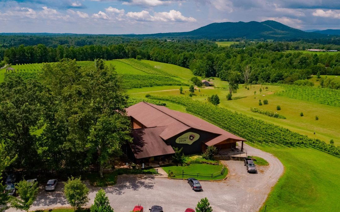 Round Peak Vineyards Aerial During Daytime