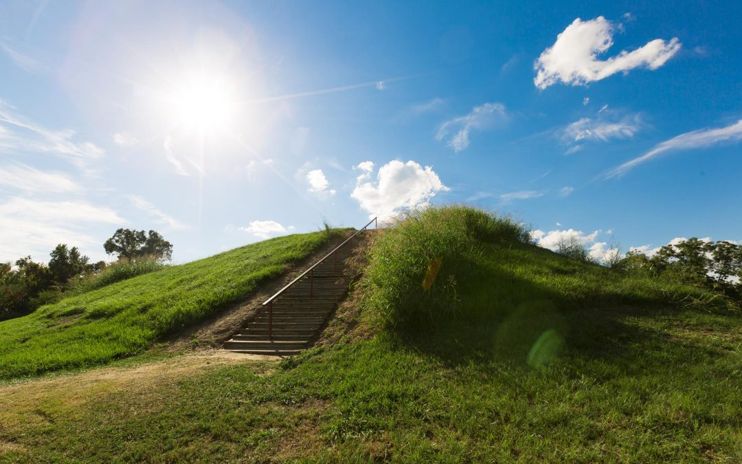 The Emerald Mound Site, also known as the Sellerstown site, is a Plaquemine culture Mississippian period archaeological site located on the Natchez Trace Parkway near Stanton, Mississippi, United States