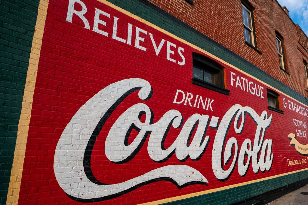 The Coca-Cola mural in downtown Hendersonville