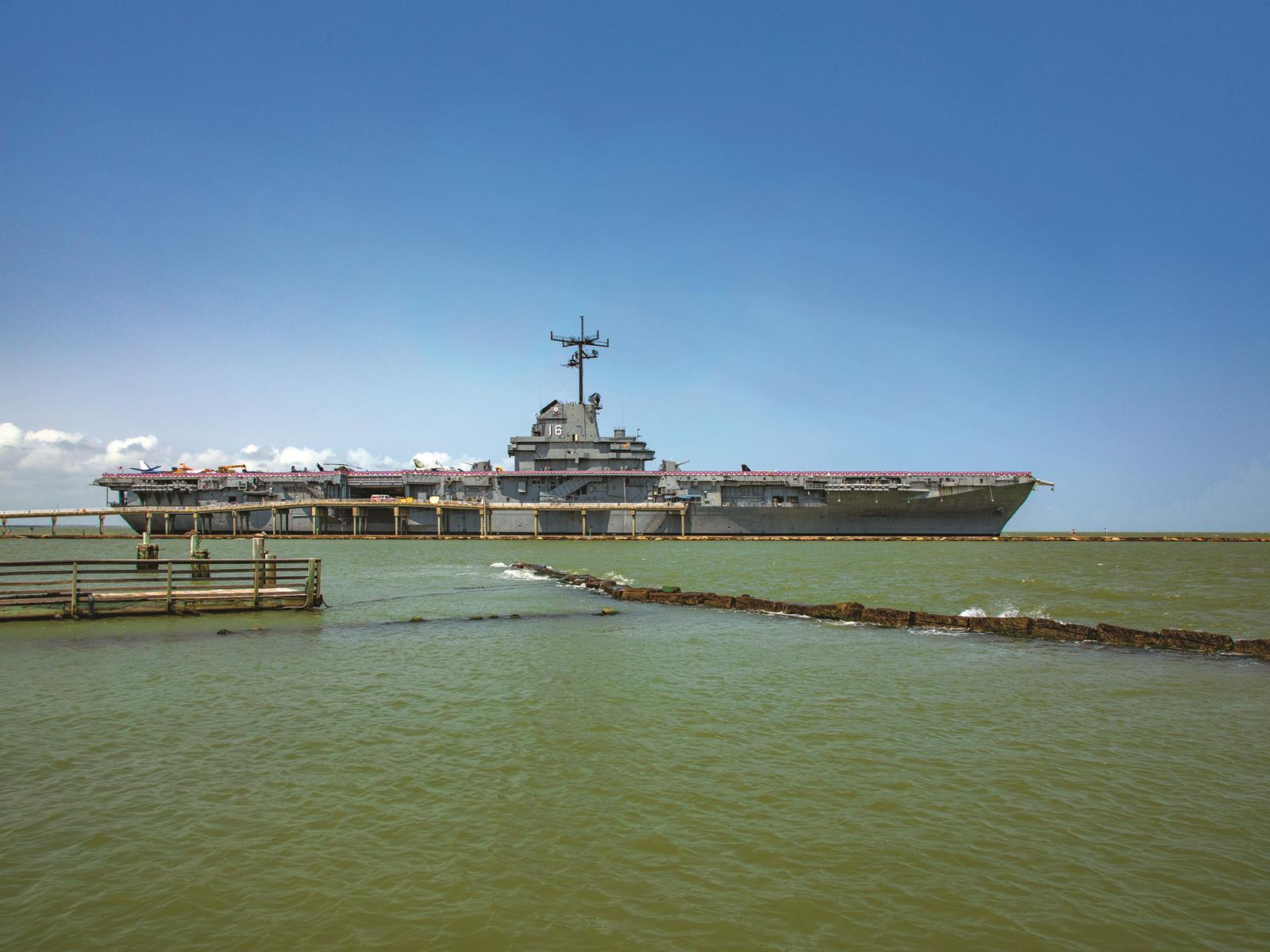 Much of the movie Pearl Harbor was filmed at the USS Lexington Museum on the Bay in Corpus Christi.