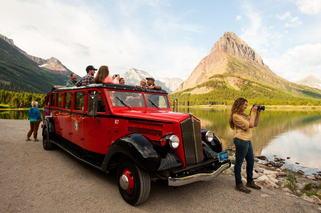 Glacier National Park Glacier Red Bus
