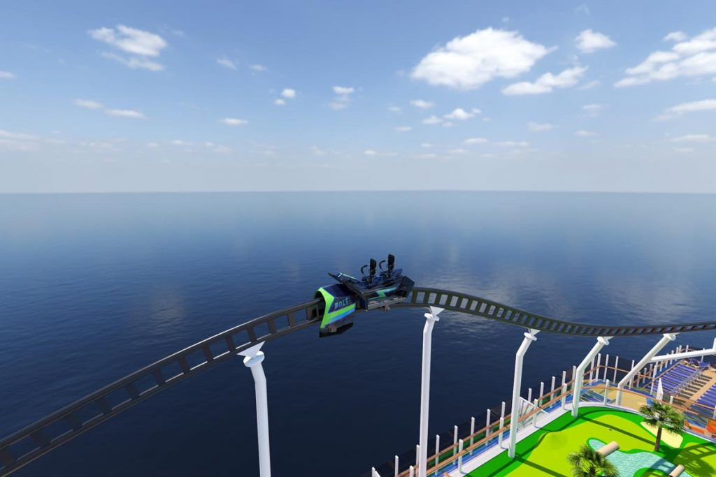 The Mardi Gras is the first cruise ship with a roller coaster
