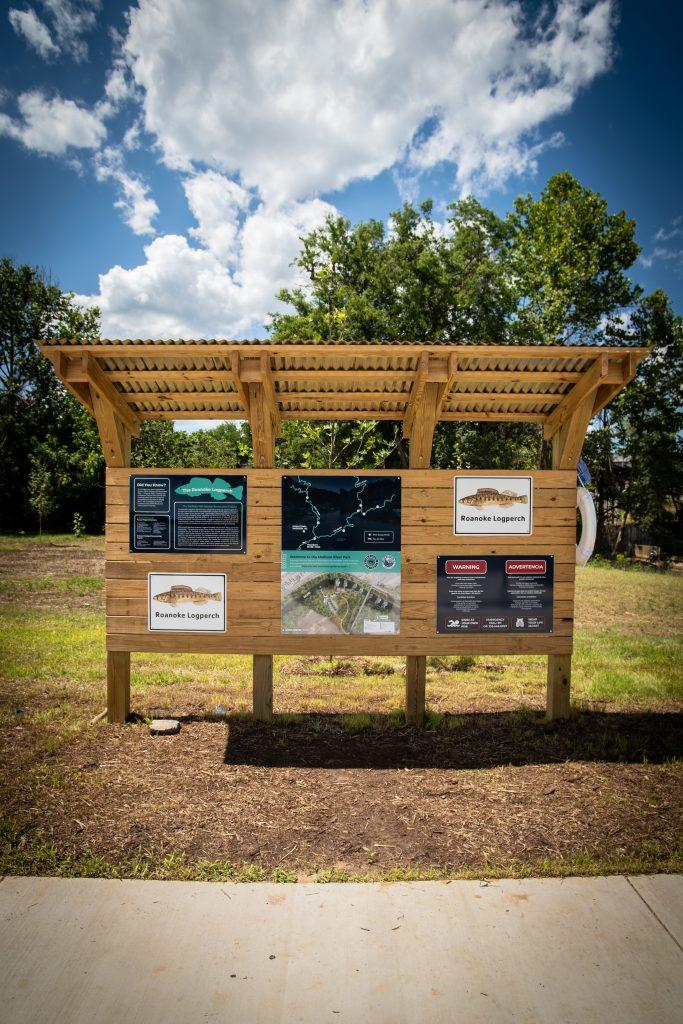 Madison River Park info station-Credit VisitNC.com