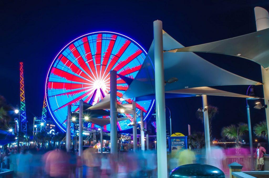 Myrtle Beach Boardwalk at Night
