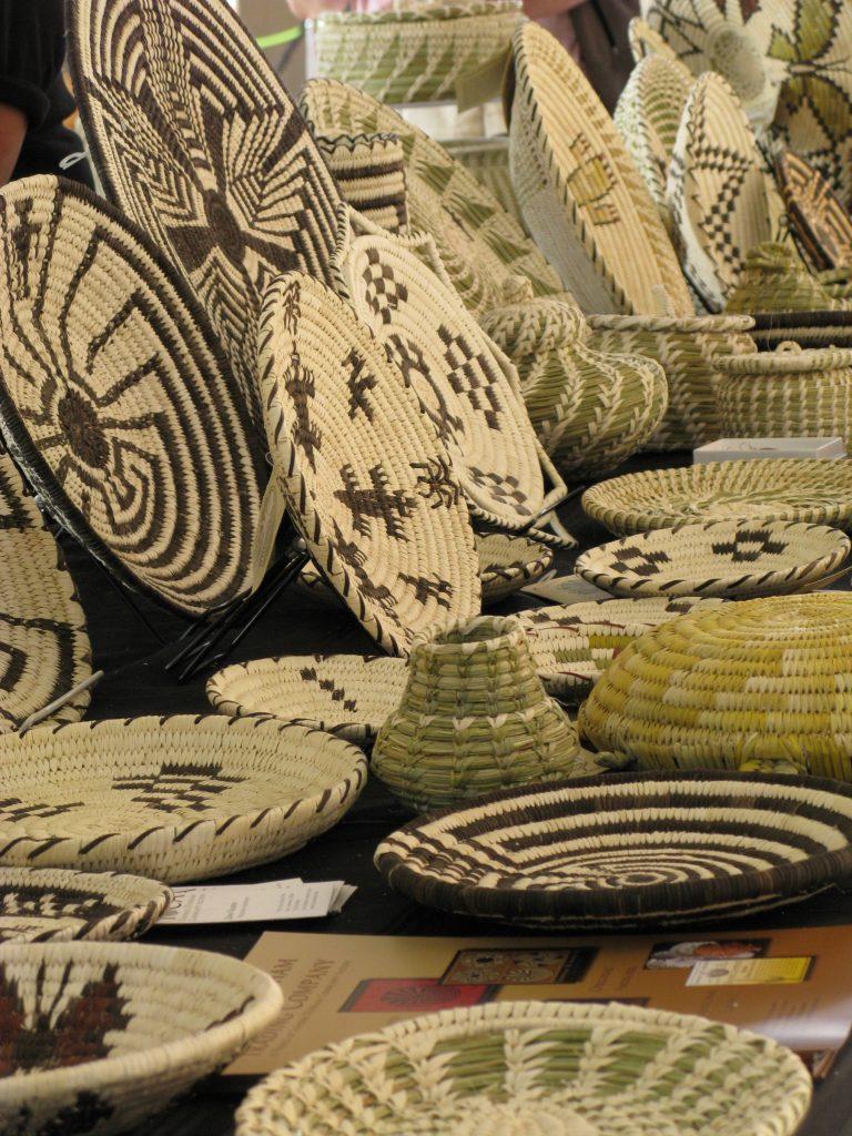 Southwest Indian Art Fair Baskets on Display