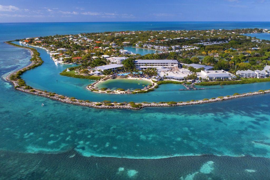 Florida Keys Aerial Island View of Duck Key Photo Courtesy of Hawks Cay Resort