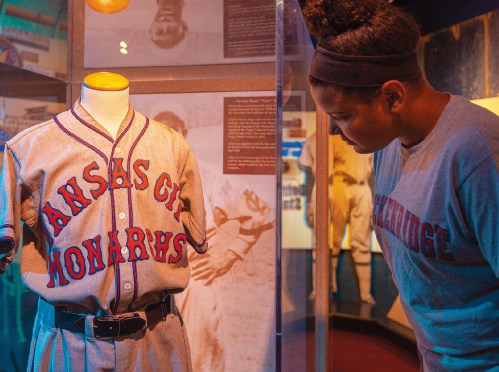 Uniform of the legendary Kansas City Monarchs at the Negro Leagues Baseball Museum, Kansas City. Photo courtesy of Visit KC