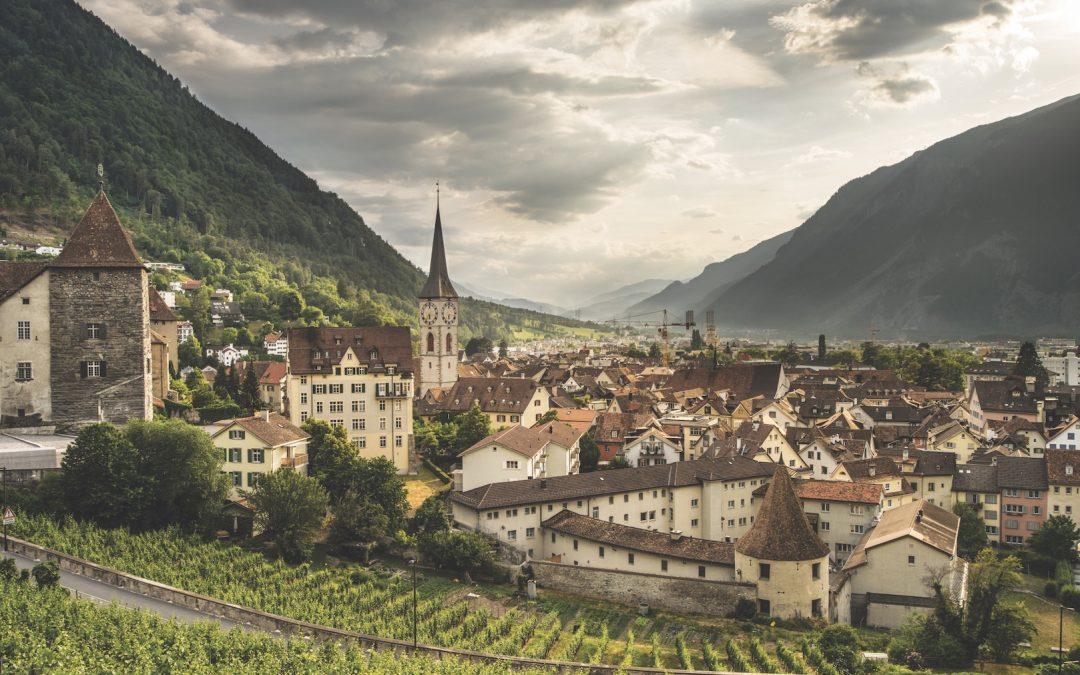 Mountains provide a lovely backdrop for Chur's enchanting Old Town. Switzerland Tourism/Markus Bühler-Rasom