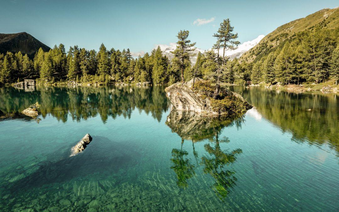 Lago di Saoseo, a pristine lake in the canton of Graubünden. Switzerland Tourism
