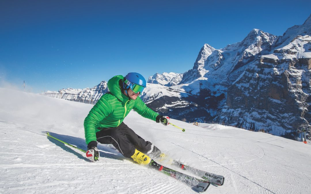 The Schilthorn, the highest-altitude ski area in the Bernese Oberland, is accessible from the pretty village of Mürren.